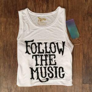 Show Me Your MuMu Tops - NWT- Secret Life Tank Follow the Music